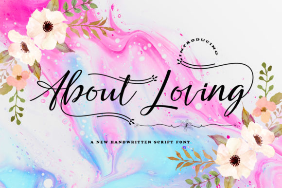 Print on Demand: About Loving Script & Handwritten Font By akifatype