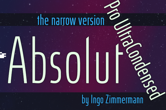 Print on Demand: Absolut Pro Ultra Condensed Sans Serif Font By ingoFonts