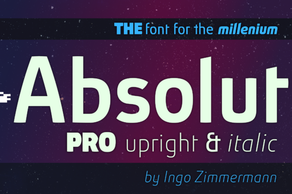 Print on Demand: Absolut Pro Upright & Italic Sans Serif Schriftarten von ingoFonts