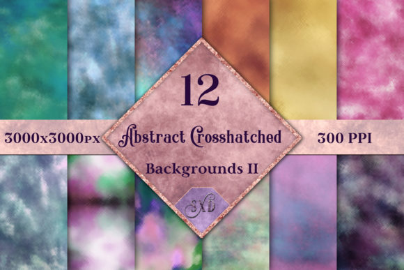 Print on Demand: Abstract Crosshatched Backgrounds Vol 2 Graphic Backgrounds By SapphireXDesigns - Image 1