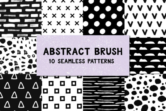 Abstract Brush Patterns Graphic Patterns By anatartan