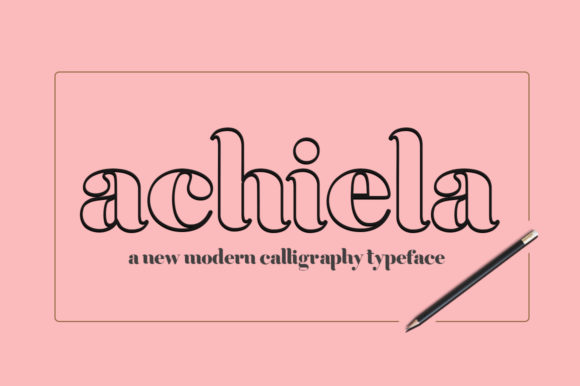 Print on Demand: Achiela Family Sans Serif Font By Rudistudio