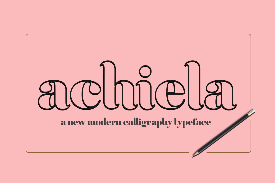 Download Free Achiela Family Font By Rudistudio Creative Fabrica for Cricut Explore, Silhouette and other cutting machines.