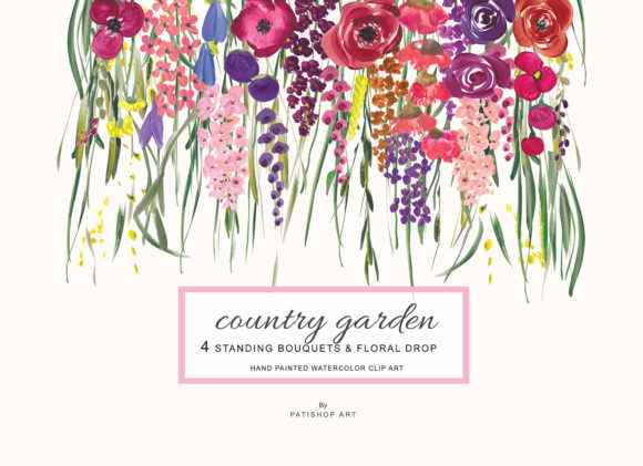 Acrylic Colorful Flowers Graphic Illustrations By Patishop Art - Image 2