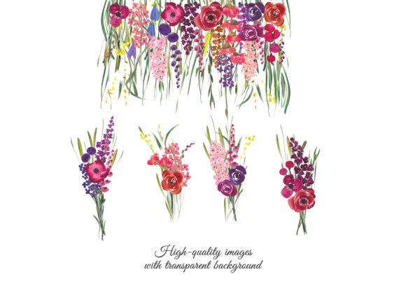 Acrylic Colorful Flowers Graphic Illustrations By Patishop Art - Image 5