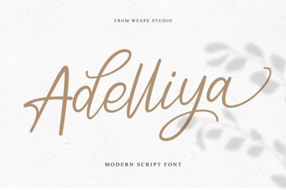 Print on Demand: Adelliya Script Script & Handwritten Font By Weape Design