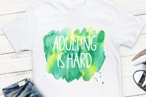 Print on Demand: Adulting is Hard Sublimation Design Graphic Crafts By Stickers By Jennifer