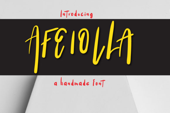 Print on Demand: Afeiolla Display Font By Autumn Designs