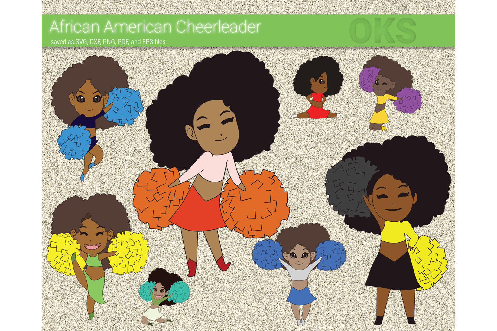 Download Free African American Cheerleader Svg Vector Graphic By Crafteroks for Cricut Explore, Silhouette and other cutting machines.