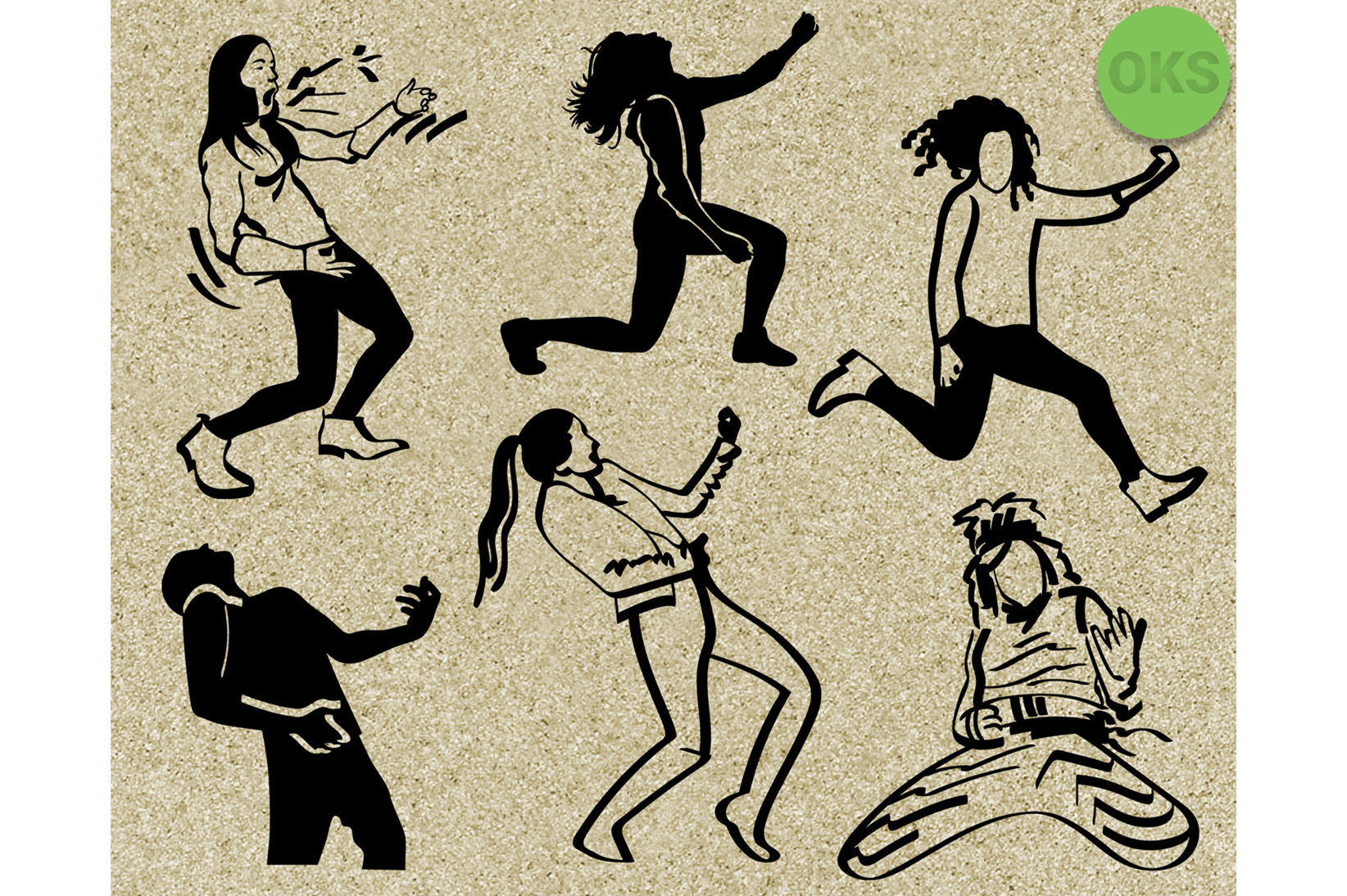 Download Free Air Guitar Vector Clipart Graphic By Crafteroks Creative Fabrica for Cricut Explore, Silhouette and other cutting machines.