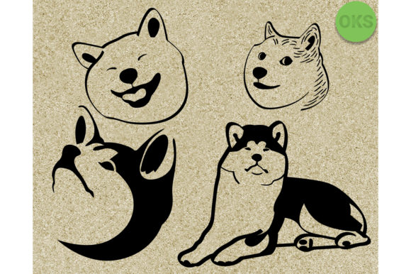 Download Free Akita Vector Cute Dog Clipart Graphic By Crafteroks Creative for Cricut Explore, Silhouette and other cutting machines.