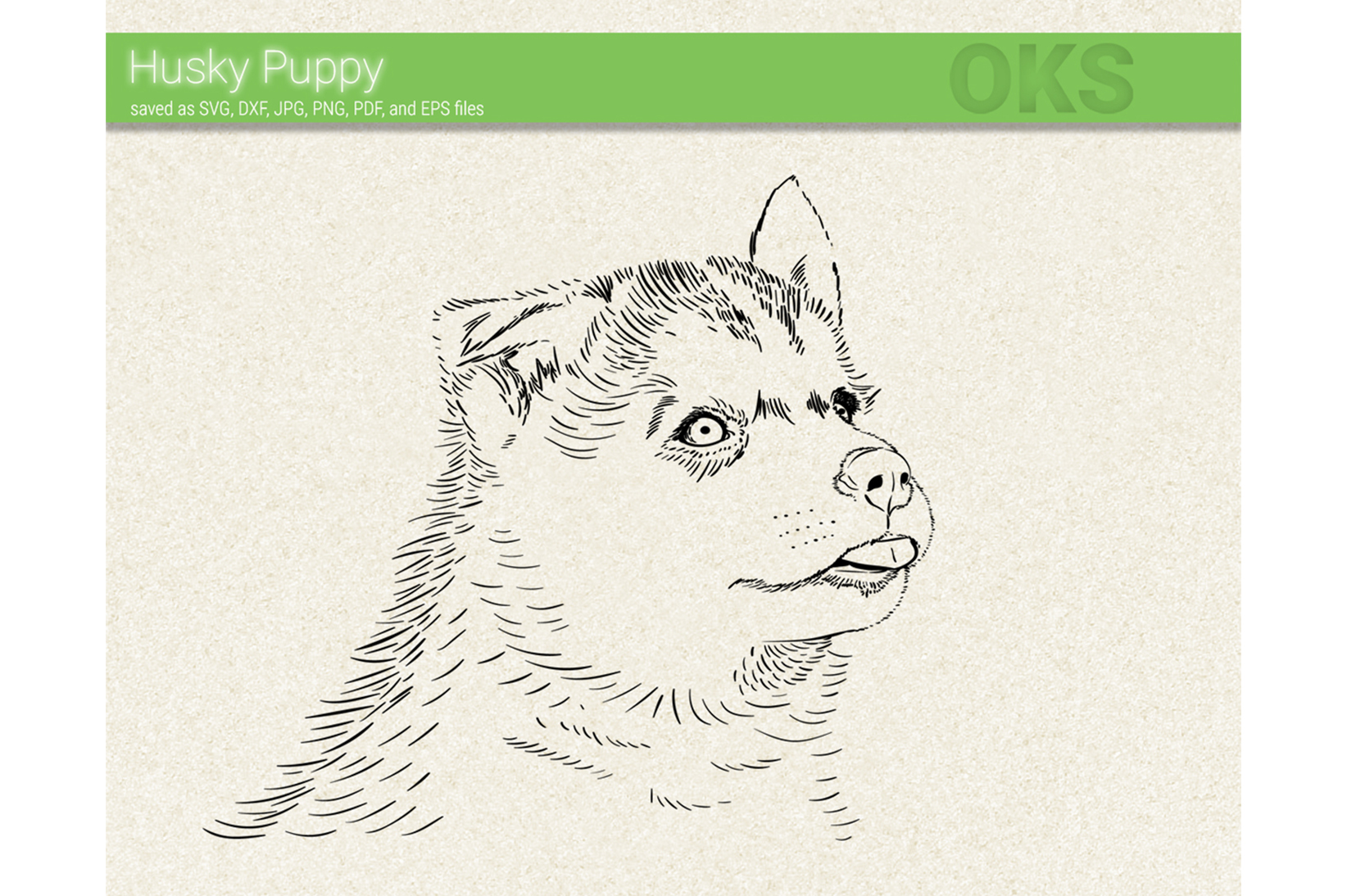Download Free Alaskan Husky Puppy Svg Vector Graphic By Crafteroks Creative for Cricut Explore, Silhouette and other cutting machines.
