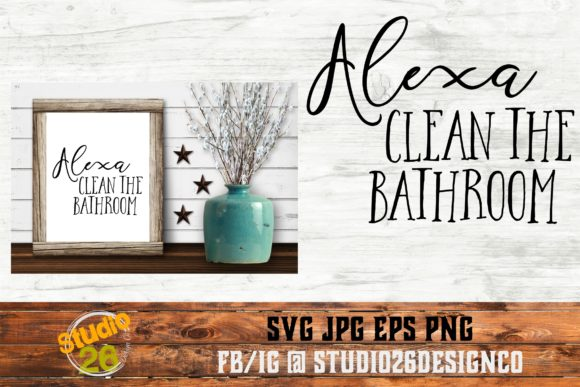 Download Free Alexa Do The Dishes Bundle Graphic By Studio 26 Design Co for Cricut Explore, Silhouette and other cutting machines.