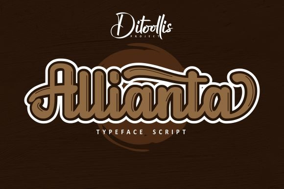 Print on Demand: Allianta Script & Handwritten Font By Ditoollis Project