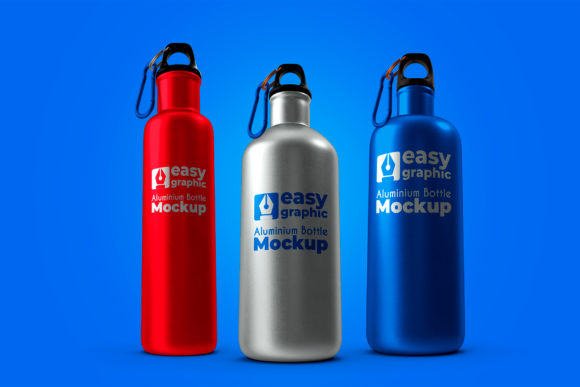 Aluminium Bottle Mockup Graphic Product Mockups By rogeriolmarcos