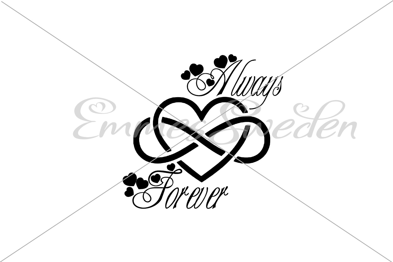 Download Free Always Forever Heart Infinity Svg Graphic By Emmessweden for Cricut Explore, Silhouette and other cutting machines.