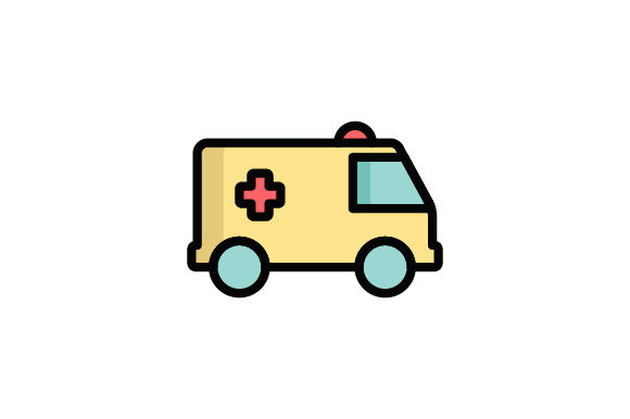 Download Free Ambulance Icon Graphic By Hellopixelzstudio Creative Fabrica for Cricut Explore, Silhouette and other cutting machines.