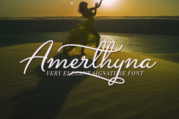 Print on Demand: Amerthyna Script & Handwritten Font By Aqeela Studio - Image 1