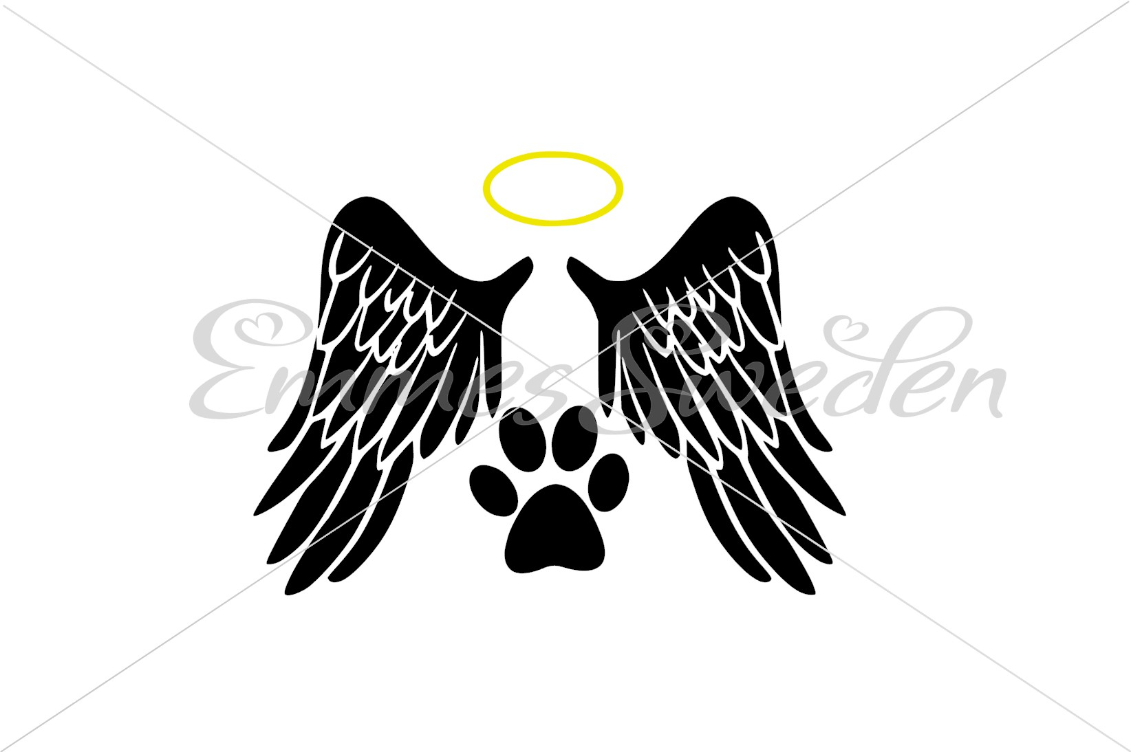 Download Free Angel Dog Graphic By Emmessweden Creative Fabrica for Cricut Explore, Silhouette and other cutting machines.