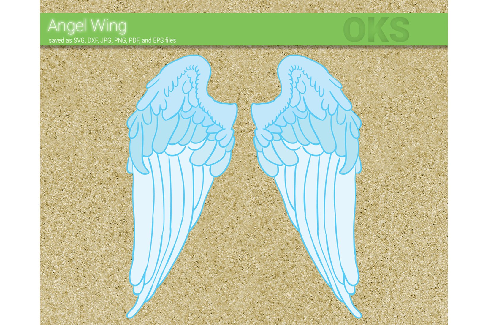 Download Free Angel Wing Vector Graphic By Crafteroks Creative Fabrica for Cricut Explore, Silhouette and other cutting machines.