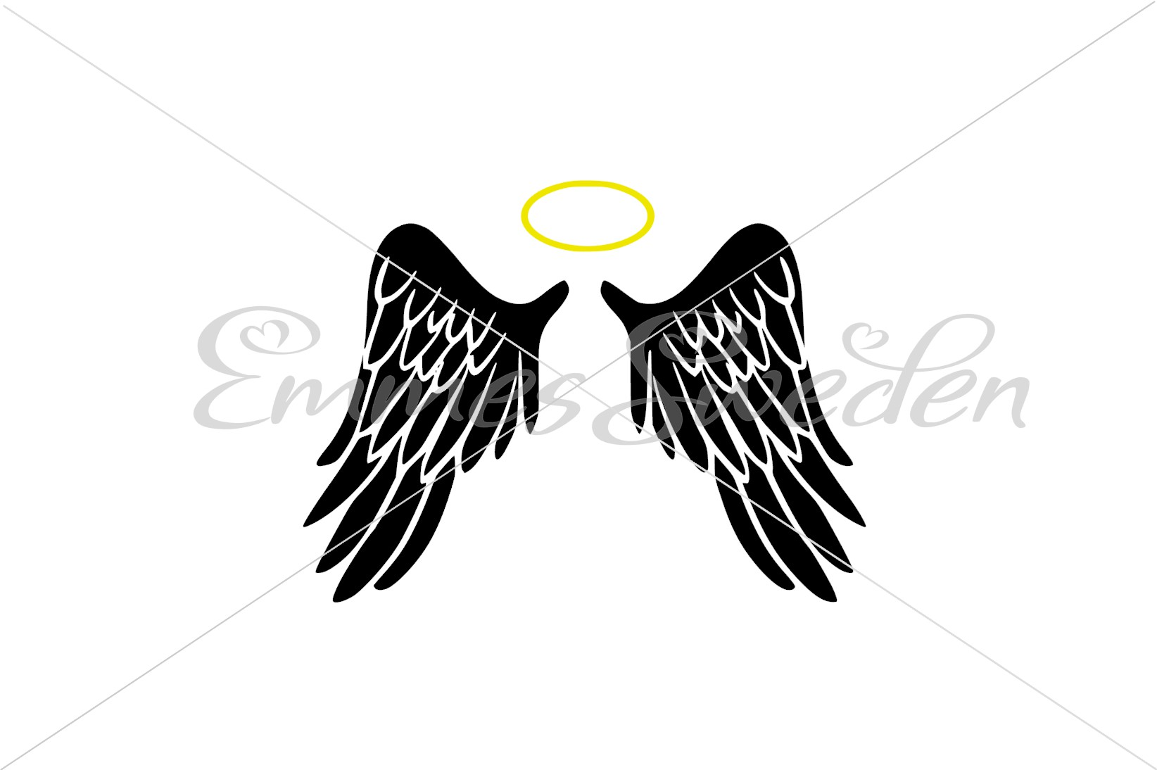 ad7cc3099 Angel Wings Svg, Halo Svg Graphic by EmmesSweden - Creative Fabrica