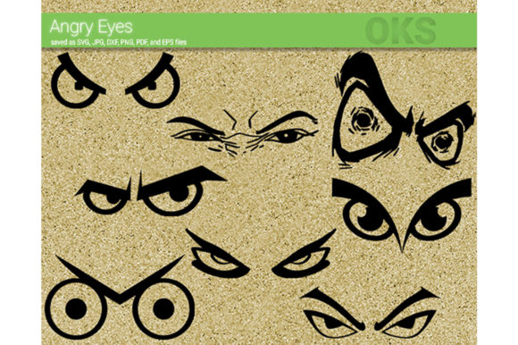 Download Free Angry Eyes Svg Vector Graphic By Crafteroks Creative Fabrica SVG Cut Files