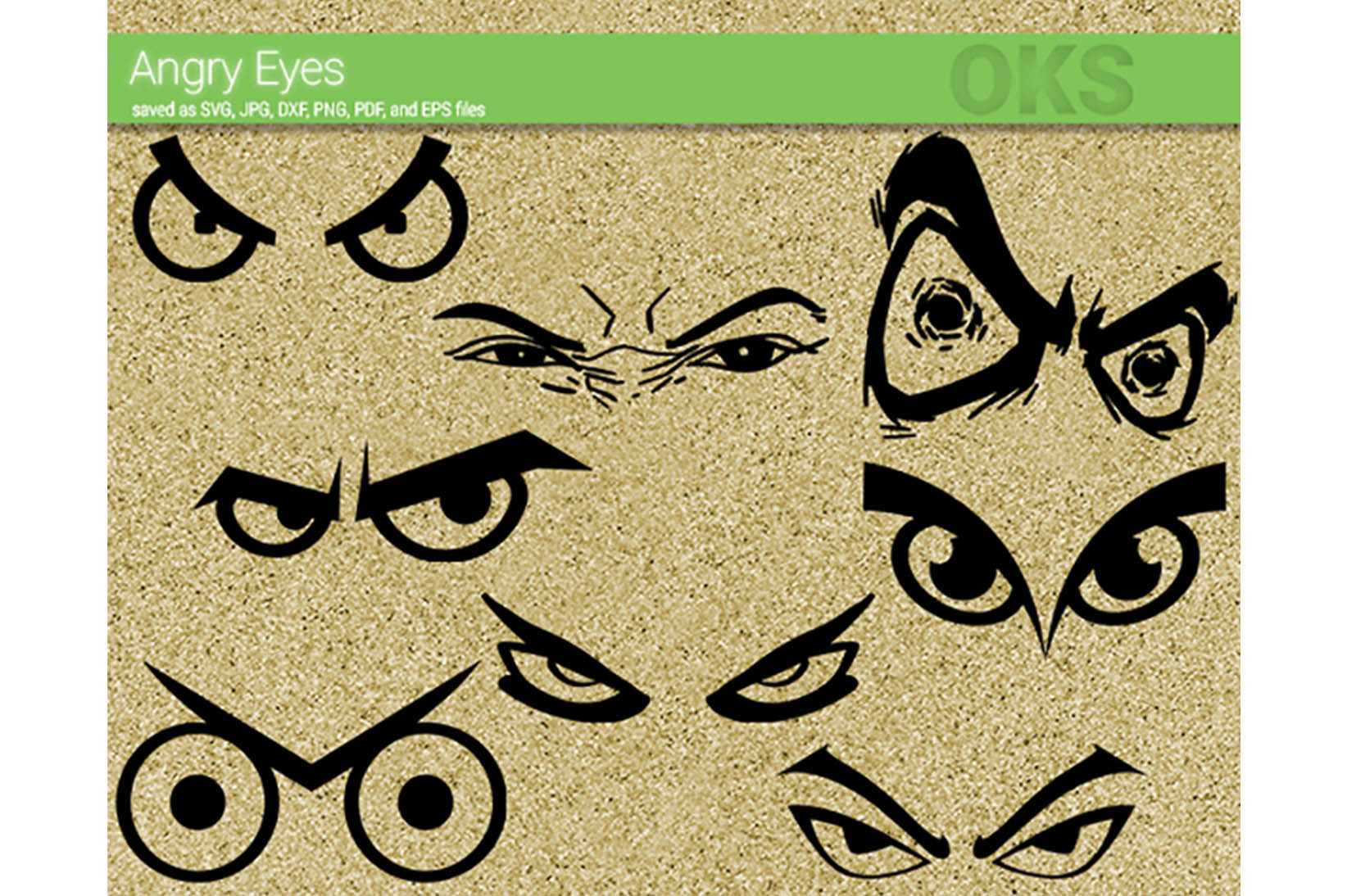 Angry Eyes Svg Vector Graphic By Crafteroks Creative Fabrica