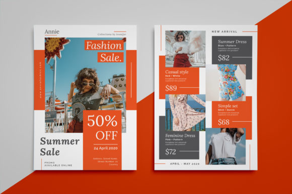 Annie - Fashion Sale Flyer Graphic Print Templates By irfanfirdaus19