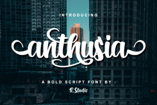 Anthusia Script & Handwritten Font By R. Studio