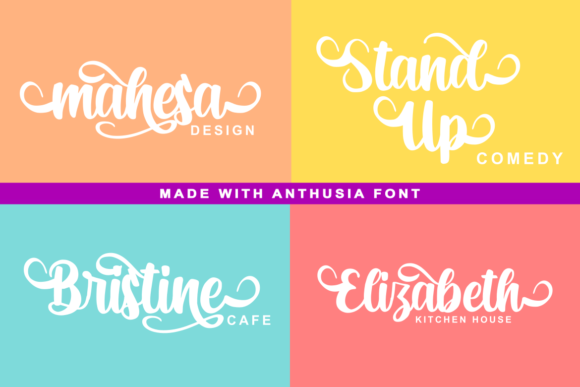 Anthusia Font By R. Studio Image 5
