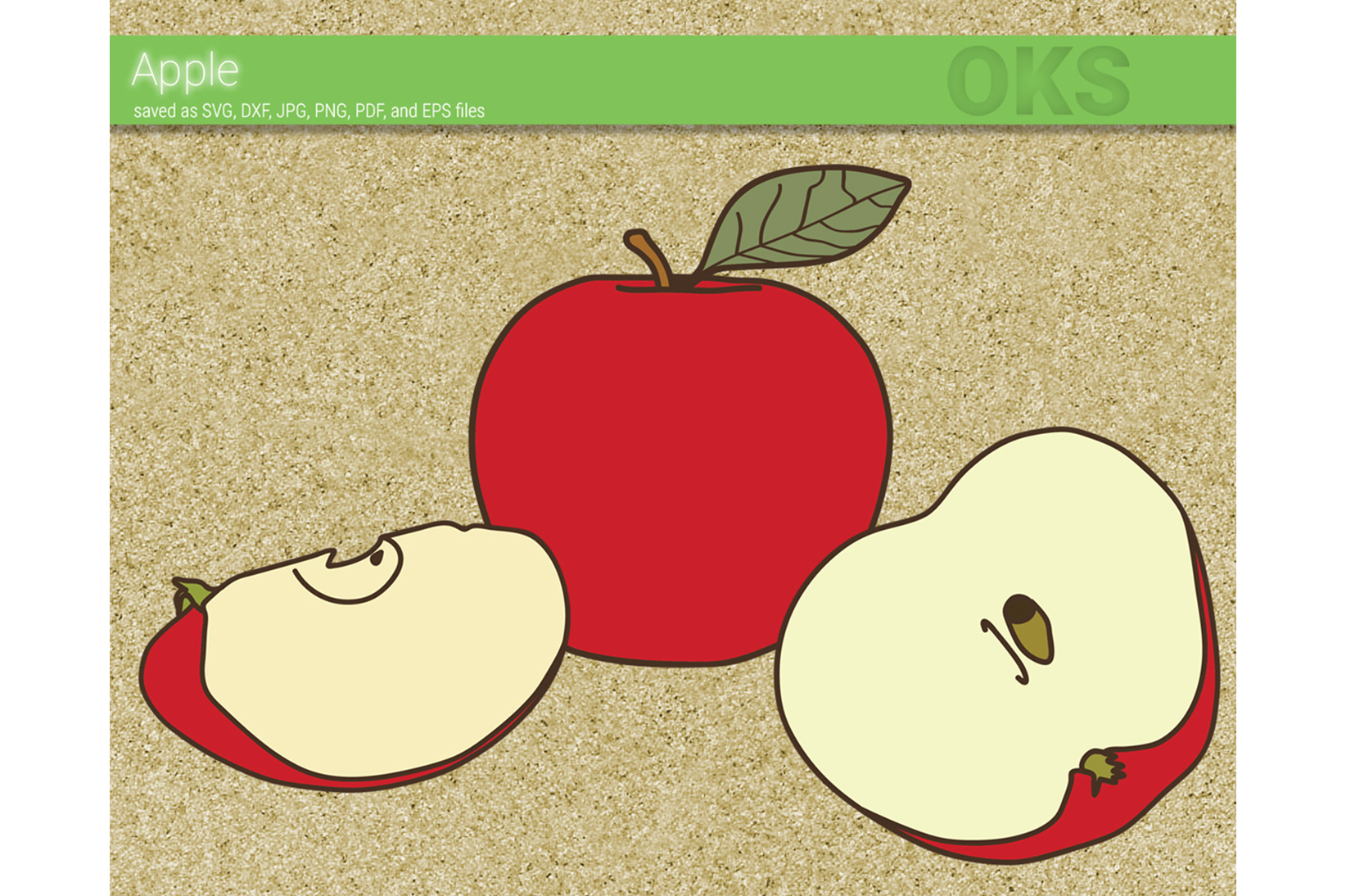 Download Free Apple Vector Graphic By Crafteroks Creative Fabrica for Cricut Explore, Silhouette and other cutting machines.