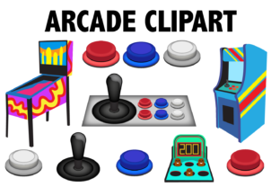 Arcade Game Clipart Graphic By Mine Eyes Design