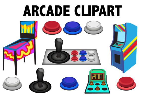 Print on Demand: Arcade Game Clipart Graphic Illustrations By Mine Eyes Design - Image 1