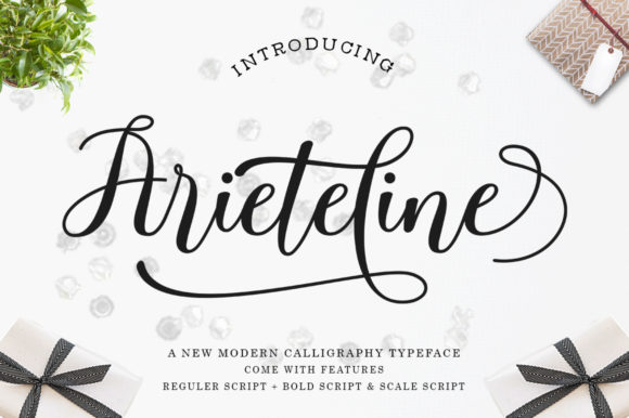 Print on Demand: Ariteline Script Script & Handwritten Font By Zane Studio