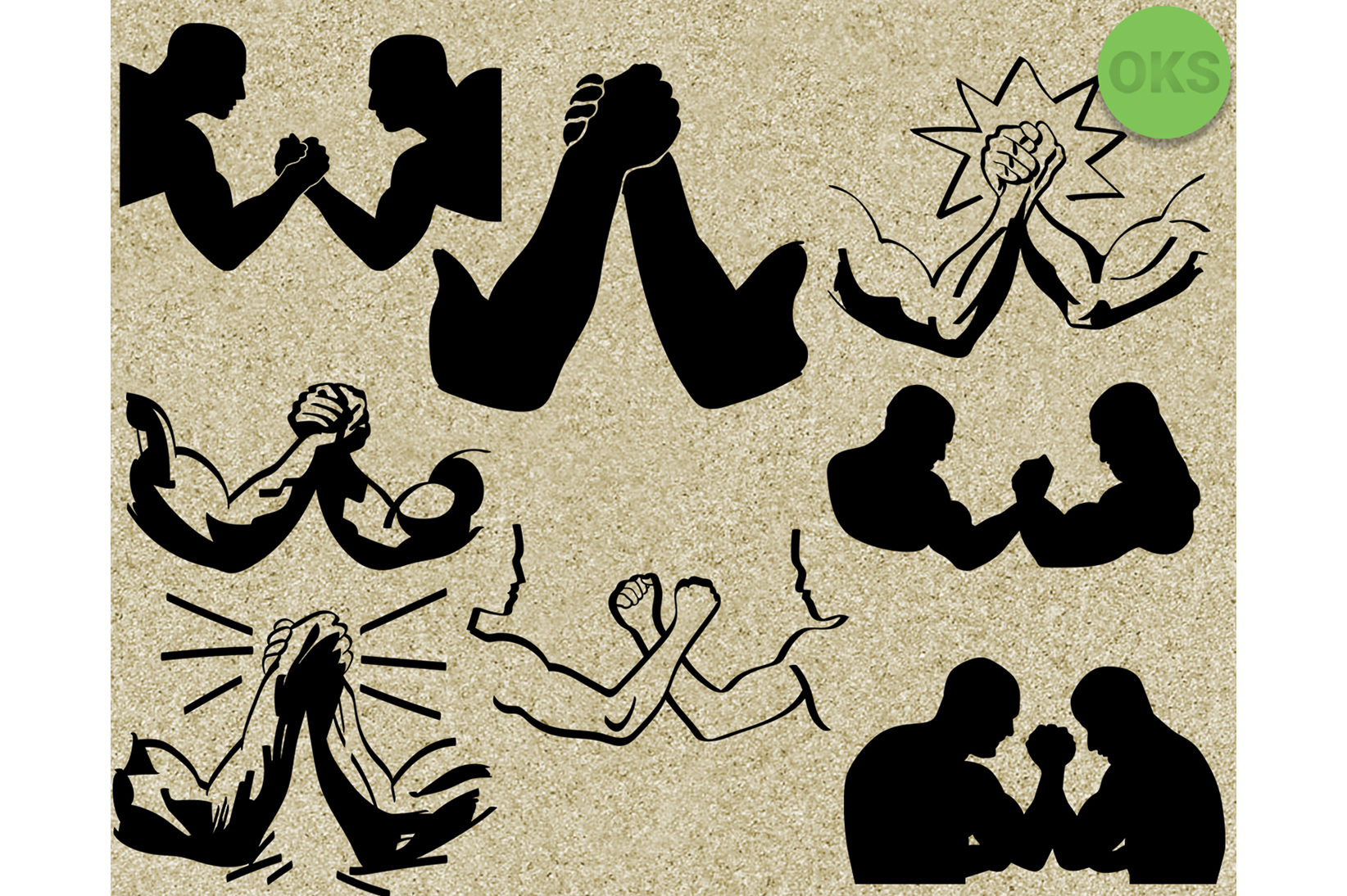 Download Free Arm Wrestle Vector Clipart Graphic By Crafteroks Creative Fabrica for Cricut Explore, Silhouette and other cutting machines.