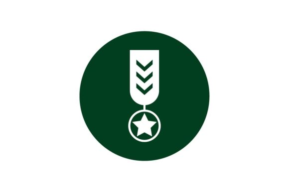 Download Free Army Emblem Icon On Green Circle Vector Graphic By Hoeda80 for Cricut Explore, Silhouette and other cutting machines.