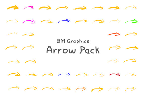 Print on Demand: BM Graphics - Arrows Dingbats Font By GraphicsBam Fonts