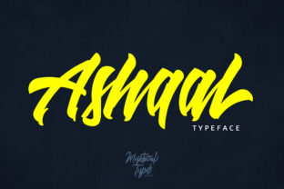 Ashaal Script Font By MysticalType