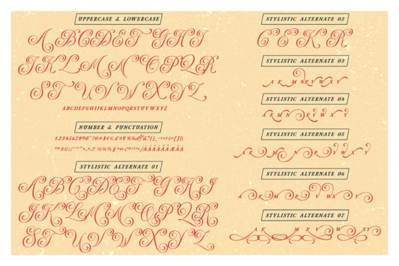 Print on Demand: Astria Display Font By RedyStudio - Image 6