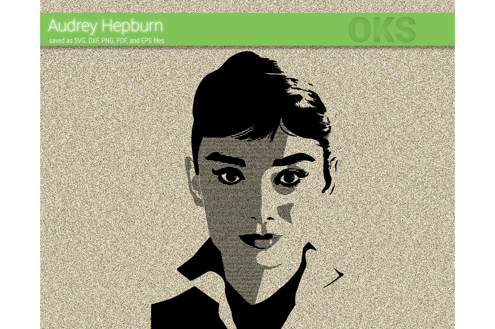 Download Free Audrey Hepburn Vector Graphic By Crafteroks Creative Fabrica for Cricut Explore, Silhouette and other cutting machines.
