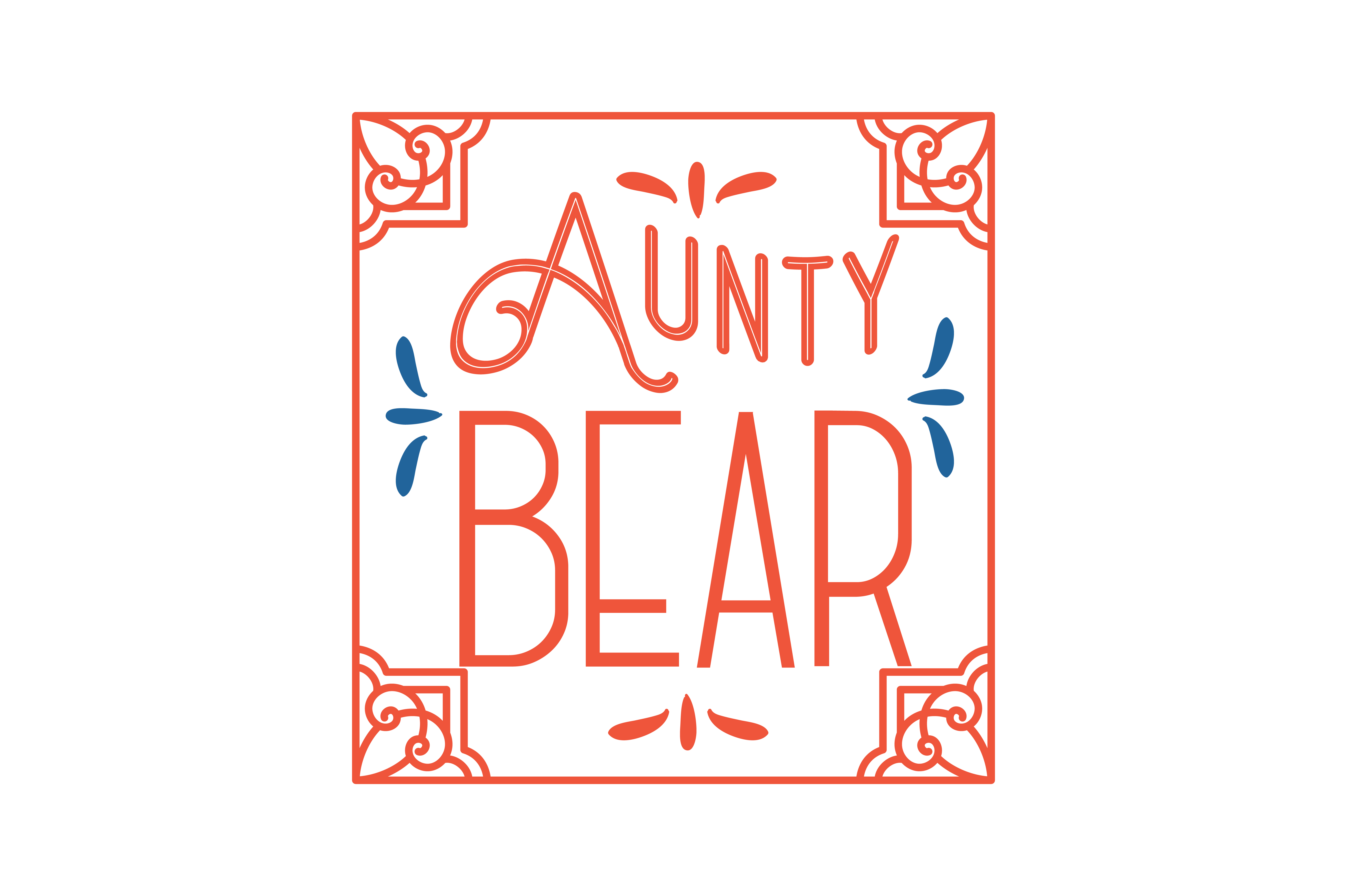 Download Free Aunty Bear Quote Svg Cut Graphic By Thelucky Creative Fabrica for Cricut Explore, Silhouette and other cutting machines.