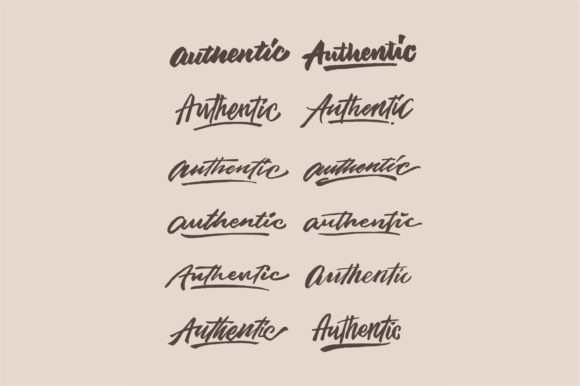 Authentic Lettering Graphic By Sons Of Baidlowi