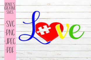 Download Free Autism Love Graphic By Reneescreativesvgs Creative Fabrica for Cricut Explore, Silhouette and other cutting machines.