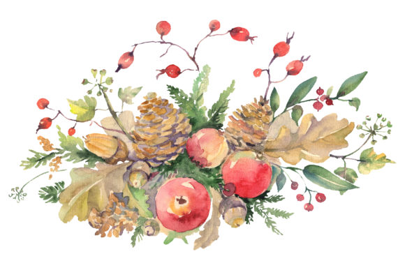 Download Free Autumn Bouquet Watercolor Png Grafico Por Mystocks Creative for Cricut Explore, Silhouette and other cutting machines.