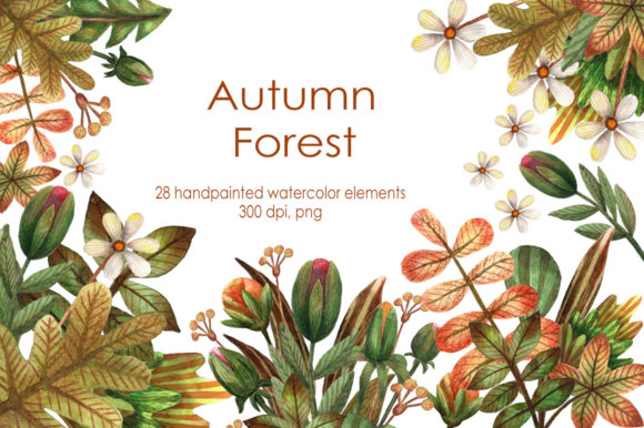 Autumn Forest - Watercolor Clip Art Set Graphic By mashamashastu