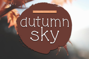 Autumn Sky Font By KA Designs