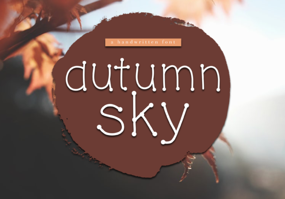 Print on Demand: Autumn Sky Display Font By KA Designs