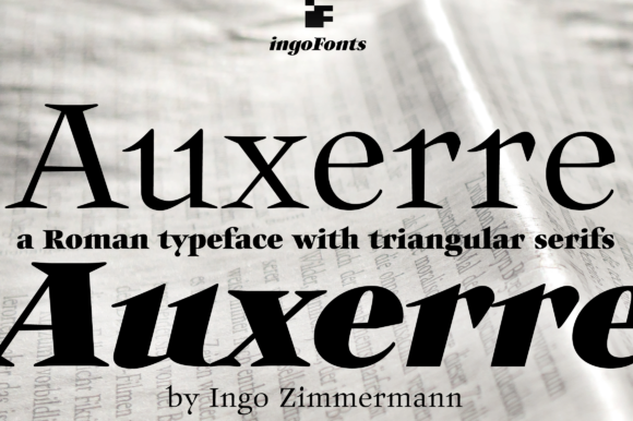 Print on Demand: Auxerre Serif Font By ingoFonts