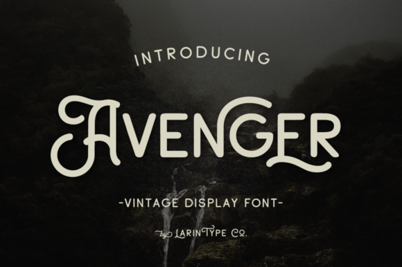Print on Demand: Avenger Display Font By Pasha Larin