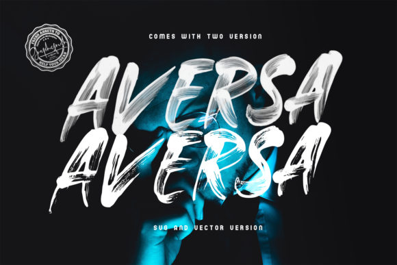Print on Demand: Aversa Color Fonts Font By Sameeh Media - Image 5